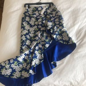 alice + Olivia asymmetrical floral skirt